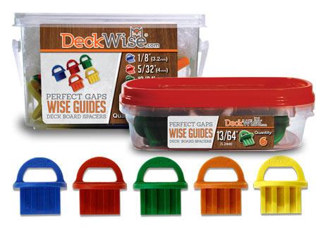 WiseGuides® Board Gap Spacers Consistent Deck Board Spacing