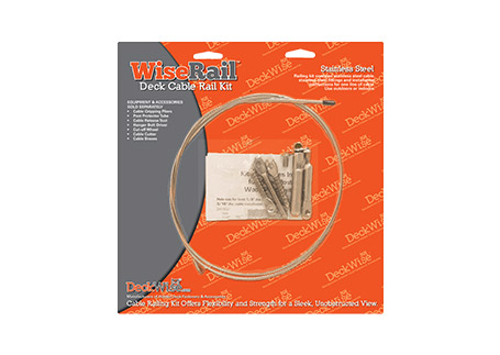 """WiseRail® Deck Cable Railing 1/8"""" Stainless Steel Deck Railing"""