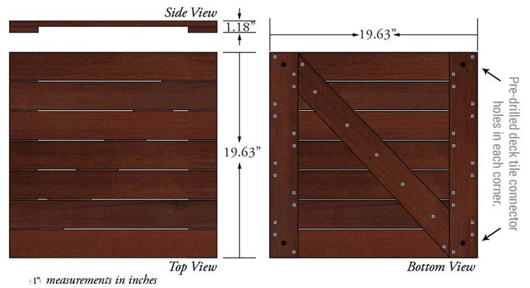 tigerwood deck tiles 20 x 20 best price miami fl
